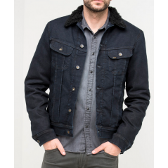 LEE SHERPA COWBOY JAKKE BLUE/BLACK