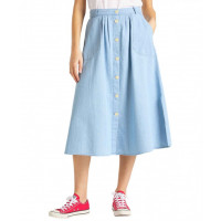 LEE LONG SKIRT M/KNAPPER FORAN  VARENUMMER L38ZBINJ