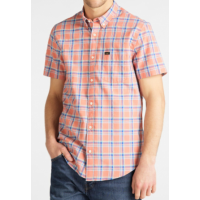LEE SKJORTE   ORANGE TERNET K/Æ  VARENUMMER L886DGNI (STR. M TIL 4XL)