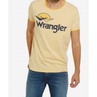 WRANGLER LOGO T-SHIRT  GUL VARENUMMER W7B45FQUY