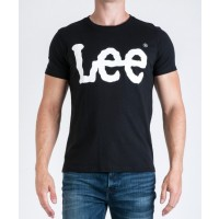 LEE T-SHIRT  LEE LOGO SORT  VARENUMMER L62AAI01
