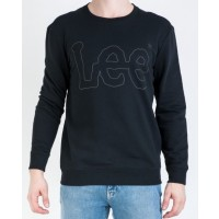 LEE LOGO SWEATSHIRT  >SORT VARENUMMER L80FQV01