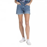 LEE MOM SHORTS< STONEWASH> VARENUMMER L37GAQG