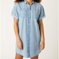DENIM SHIRT DRESS  VARENUMMER W9P03JX4E