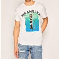 WRANGLER LOGO T-SHIRT  HVID  VARENUMMER W7F8FK989