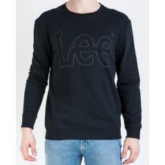 LEE LOGO SWEATSHIRT  >SORT VARENUMMER L80FQV01